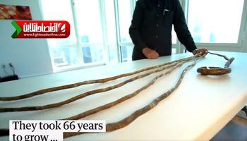 بلندترین ناخن دنیا با طول ۹ متر +فیلم