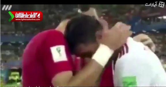 گریه پورعلی گنجی روی شونههای په په +فیلم