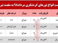 سفر هوایی به تبریز چند تمام میشود؟