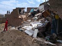 ریزش ساختمان پنج نفر را محبوس کرد