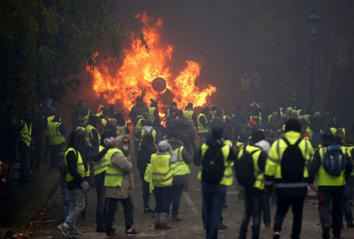 فراخوان جلیقه زردهای فرانسه برای اعتراضات بزرگ شنبه