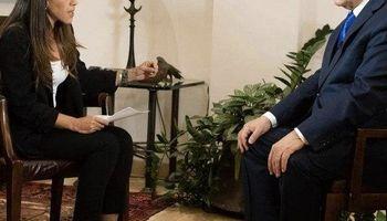 اقدام عجیب نتانیاهو هنگام مصاحبه تلویزیونی +عکس