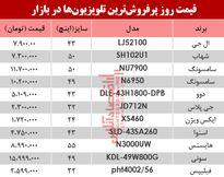 پرفروشترین تلویزیونها در بازار چند؟ +جدول