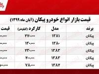 قیمت انواع پیکان در تهران +جدول