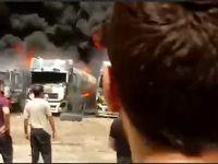 انفجار مخزن سوخت در منطقه صنعتی شهرک دولت آباد کرمانشاه +فیلم