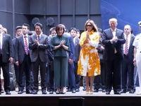 ترامپ و آبه روی عرشه ناو ژاپنی +فیلم