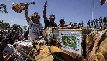 ورود اولین محموله کمکهای غذایی از برزیل به ونزوئلا