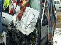 ۲کشته و یک زخمی در تصادف مرگبار پژو و کامیون +عکس