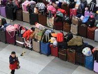 هرج و مرج در سیستم حمل و نقل چین +تصاویر