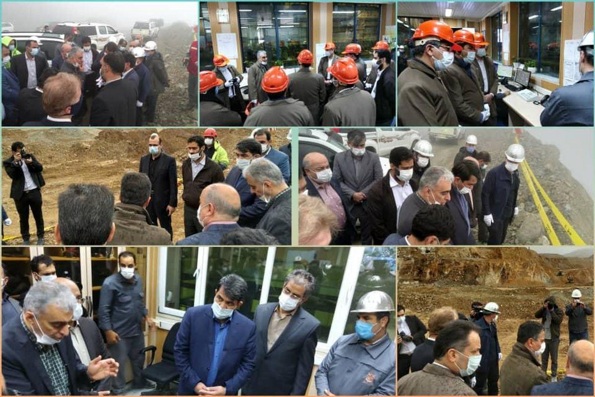 استاندار یزد از معدن مس سونگون بازدید کرد