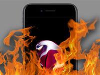 آتش دامن آیفون ۶اس را گرفت!