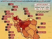 آمار کرونا در ایران طی ۲۴ساعت - ۱۲تا ۱۳اسفند