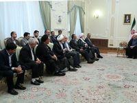 دیدار عیدانه مسئولان اجرایی با رییس جمهور +تصاویر