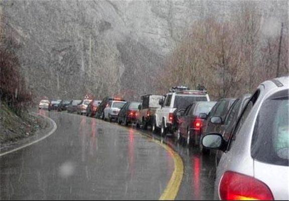 جادههای استان مازندران لغزنده است