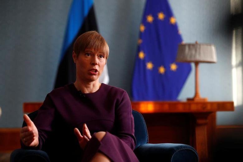 Estonia's President Kersti Kaljulaid, in office since October 10, 2016. REUTERS/Ints Kalnins