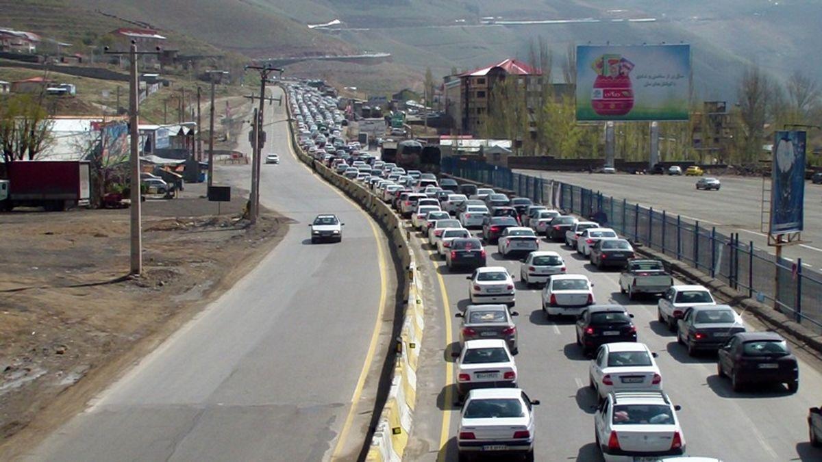 ترافیک سنگین در محورهای شمال کشور