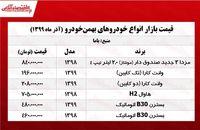 قیمت جدید محصولات بهمن خودرو +جدول
