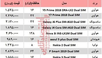 جدیدترین موبایلهای دوسیمکارته چند؟ +جدول