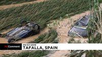 طغیان رودخانه در اسپانیا +فیلم