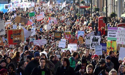 تظاهرات ضدترامپ در لندن برگزار شد