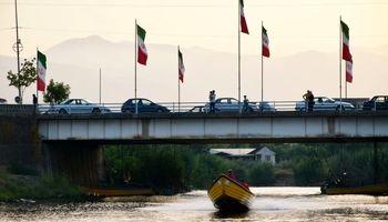 تفریح مسافران تابستانی در مرز ایران و آذربایجان +تصاویر