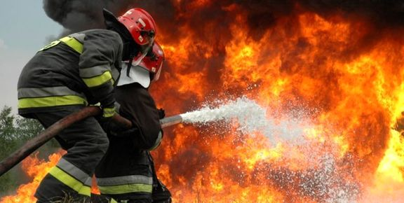 آتش در شرکت طیف سایپا مهار شد