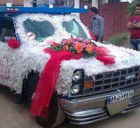 ماشین عروس متفاوت +عکس