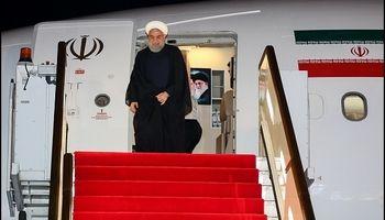 ورود روحانی به دوشنبه پایتخت تاجیکستان +عکس