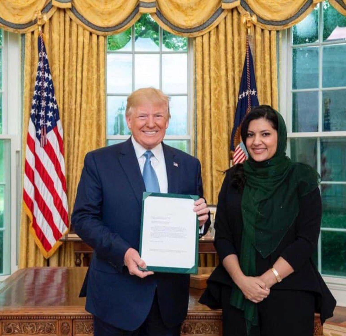 سفیر جدید عربستان در آمریکا استوارنامه خود را به ترامپ داد