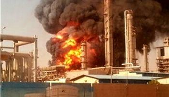 آتشسوزی در پتروشیمی مبین پارسجنوبی +تکمیلی