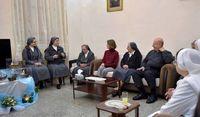 بانوی اول سوریه به دیدار زنان راهبه رفت +عکس