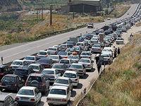 ترافیک سنگین در بزرگراه تهران - کرج