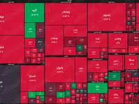 نقشه بورس امروز بر اساس ارزش معاملات/ جمعآوری صفوف دیروز مرحمی برای شاخص بدحال نشد