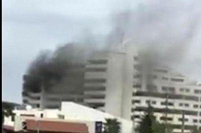 جان باختن یک تن در آتش سوزی بانک مرکزی نوشهر
