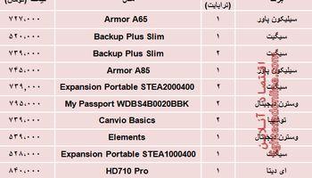 مظنه انواع هارد دیسک اکسترنال در بازار؟ +جدول