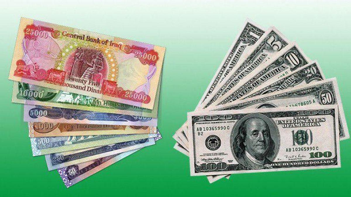 سیر صعودی ارزش دینار عراقی دربرابر دلار آمریکا