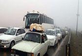 تصادف دهها خودرو در اتوبان مشهد نیشابور(۲) +فیلم