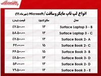 قیمت لپتاپ مایکروسافت در بازار +جدول