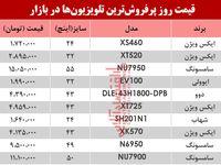 نرخ انواع پرفروشترین تلویزیون دربازار ؟ +جدول
