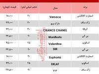 قیمت پرفروشترین عطرهای جیبی زنانه +جدول
