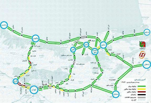 آخرین وضعیت جادههای شمالی +نقشه