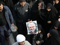 تجمع مردم تهران در محکومیت ترور سردار سلیمانی +فیلم