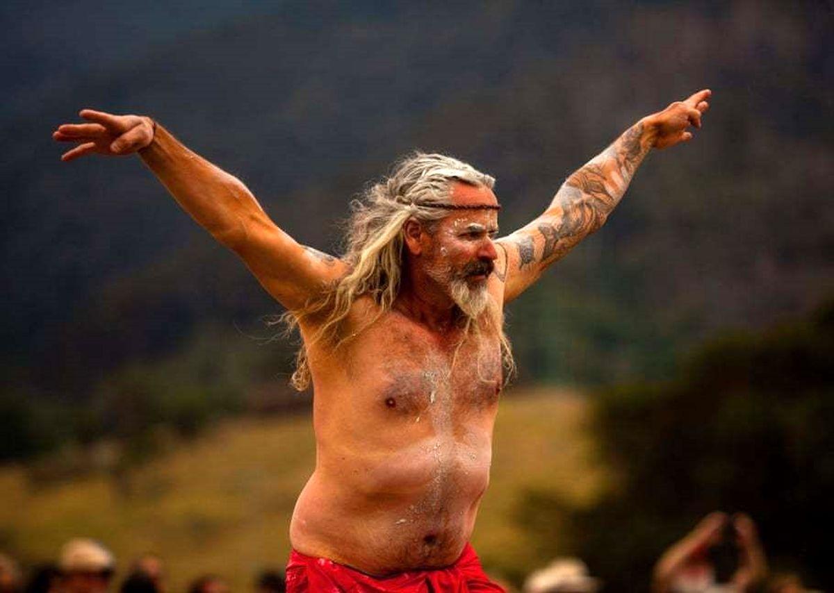 رقص سالانه بومیان استرالیا +عکس