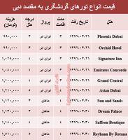 قیمت تور دوبی برای اواخر خرداد؟ +جدول