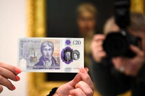 چهره نقاش انگلیسی بر اسکناسهای جدید ۲۰پوندی
