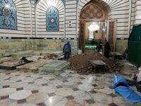 آماده سازی محل دفن آیت الله شاهرودی +عکس