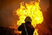 آتش سوزی در یک منزل متروکه