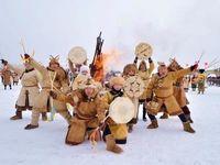 مردم بومی مغول در جشنواره سنتی برف و یخ چین +عکس
