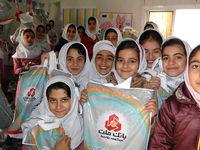 اهدای کمکهای غیرنقدی بانک ملت به مدارس شهرستان ثلاث باباجانی