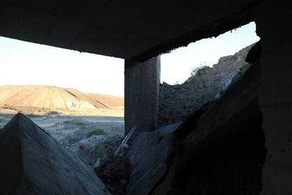 تخریب پلی در سیستان و بلوچستان توسط طوفان گونو +عکس